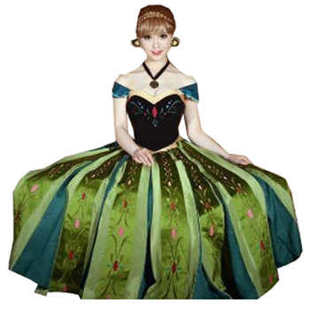 2018 Anna Coronation Dress Princess Anna Costumes Outfit Anna Cosplay Dress - DISCOUNT ITEM  6% OFF All Category