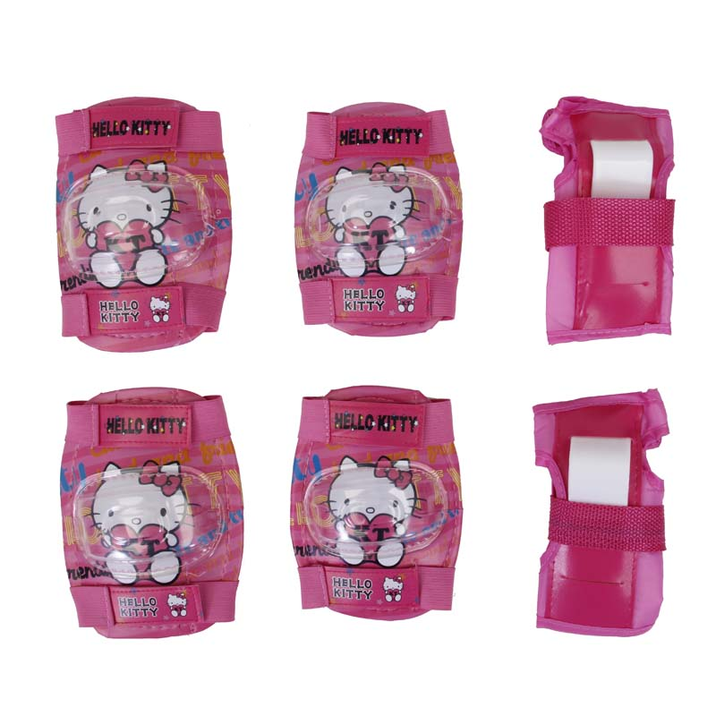 Hello Kitty Girl Skating Cycling Roller Skating Protection Kids Knee Elbow Wrist Protective knee Pads Sport Knee Protective Gear