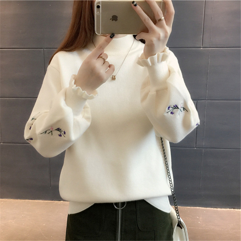 Cheap Wholesale 2018 New Autumn Winter Hot Selling Women's Fashion Casual Warm Nice Sweater  Y94
