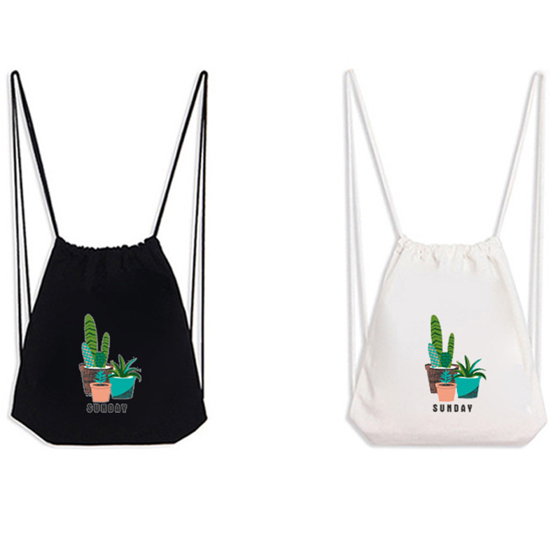 Drawstring Backpack Cactus Rucksack