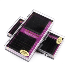 GLAMLASH 16Rows Faux mink soft individual eyelash extension lashes maquiagem cilios for professional perfect use