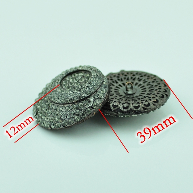 465e3b1f8f Free shipping Hi Q craft supplies metal rhinestone embellishments sewing  buttons for fur coats ,clothing ,wedding accessories-in Buttons from Home &  ...