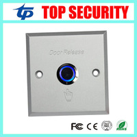 Free Shipping 10pcs Metal Aluminium Alloy Exit Button With Led Light Push Exit Switch Door Release