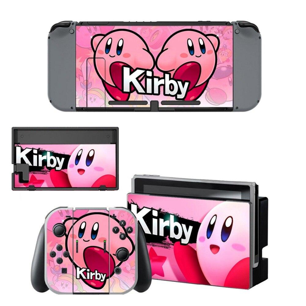 VINYL HAUT AUFKLEBER Kirby AUFKLEBER ABDECKUNG für Nintend Schalter Konsole und Freude-Con Controlle