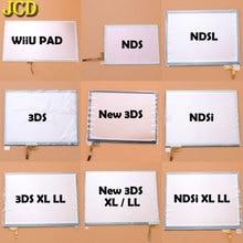 JCD หน้าจอสัมผัสจอแสดงผล Digitizer สำหรับ Nintendo DS Lite NDSL NDS NDSi XL LL สำหรับ 3DS XL LL Wiiu คอนโซล