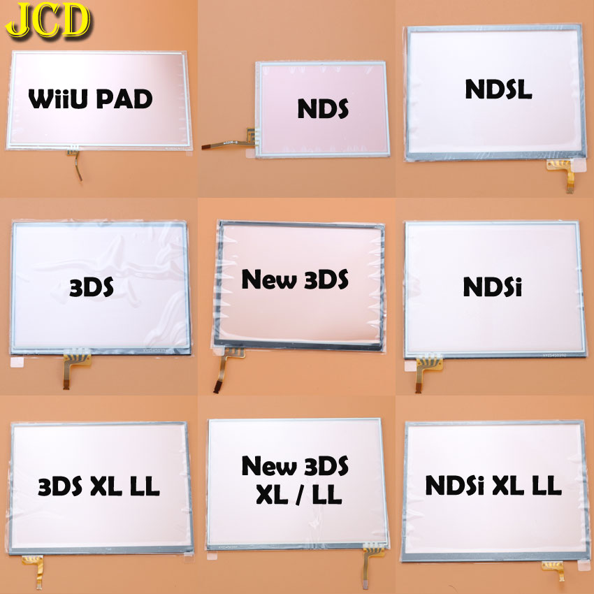 JCD Touch Screen Panel Display Digitizer For Nintend DS Lite NDSL NDS NDSi XL LL For 3DS XL LL Wiiu PAD Console