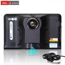 Junsun 7 pouce Android Voiture DVR GPS Radar Dash Caméra Vidéo enregistreur 16 GB vue Arrière Camion GPS Navigation FM AVIN WIFI sat nav