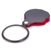 Third hand soldering iron Mini Pocket 8X 50mm Folding Jewelry Magnifier Magnifying Eye Loupe Glass Lens magnifier glasses цена и фото