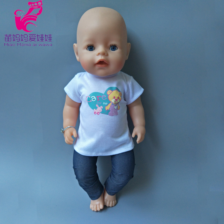 Doll vest pants Fit for 43cm Zapf Baby Re Born Doll girl dress boy suit clothes