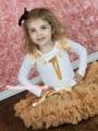 Gold Birthday 1ST 2ND 3RD 4TH White Top Goldenrod khaki Baby Girl Skirt Set 1-8Y MAPSA0844