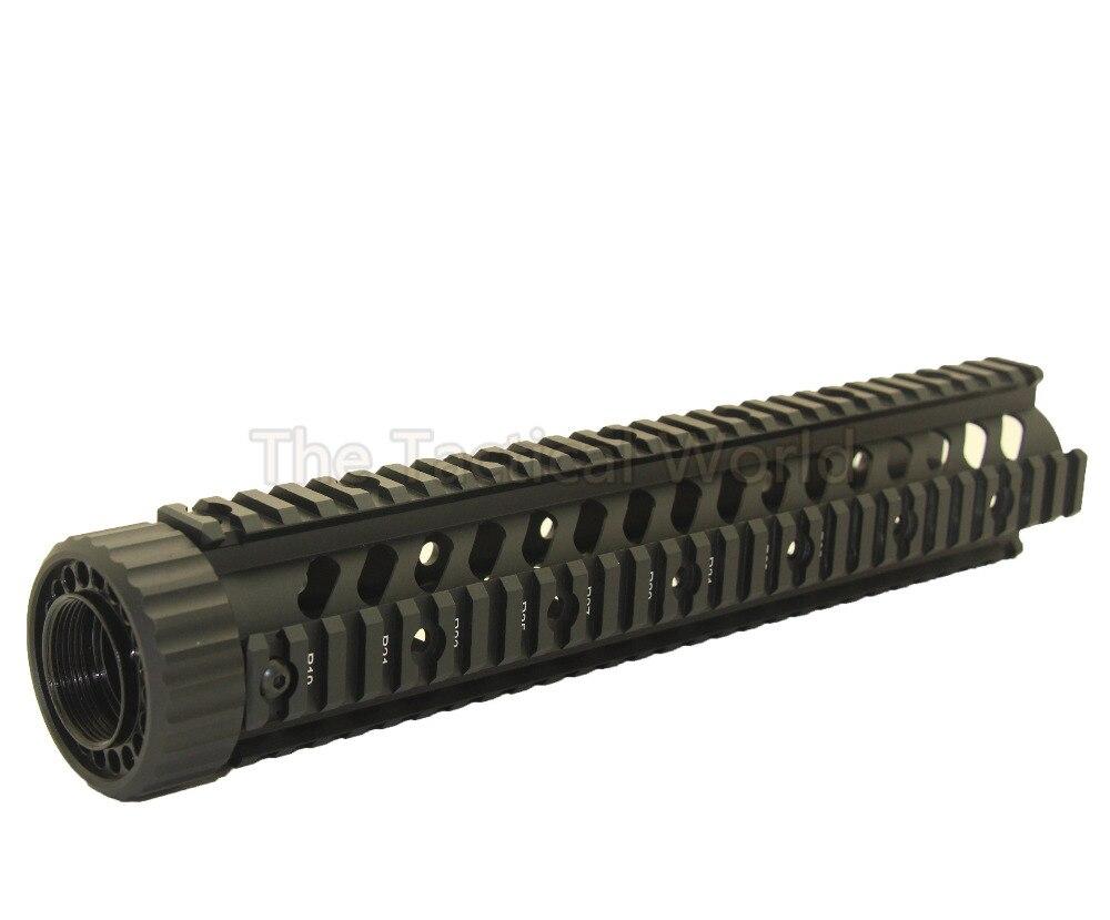 Tactique chasse AR-15 M4 M16 Handguard fusils 12 ''pouces flotteur libre Quad t-series Picatinny tisserand Rail pour RAS carabine Airsoft