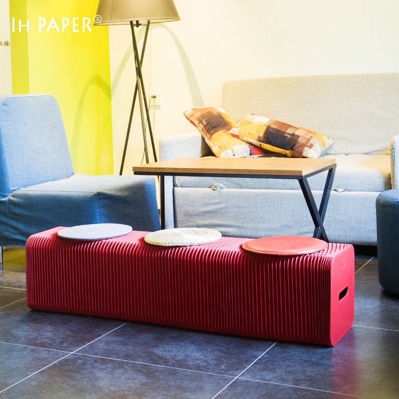Fashion Creative Red Kraft Paper Folding Sofa, ,Space- saving Sofa for office room/living room Modern Minimalist Design 140 page note paper creative fruit design