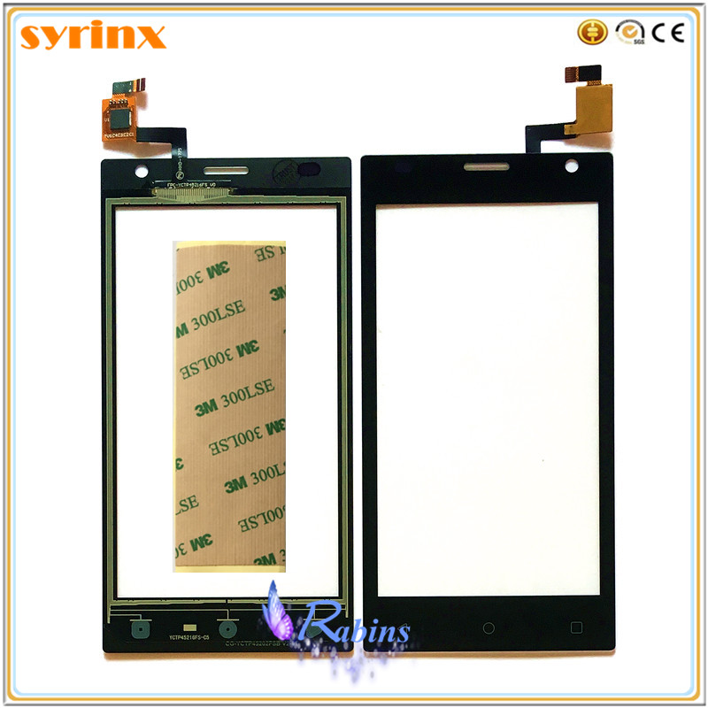 SYRINX 4 inch Touch Screen Digitizer For <font><b>Prestigio</b></font> Wize O3 PSP3458 PSP <font><b>3458</b></font> DUO Touchscreen Panel Sensor Front Glass 3m Sticker image