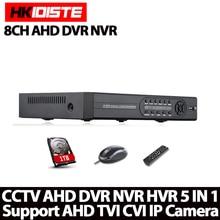 HD 8CH AHD DVR HDMI 1080P Digital Video Recorder AHD-NH Network Monitor, CCTV DVR Recorder Max To 4TB P2P, CMS,Mobile View