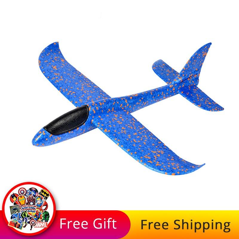 38/48 Cm Bricolage Enfants En Plein Air Avion Jouet Main Lancer Mousse Avion Modèle Epp Vol Planeur Avion Partie Jeu Avion Sport Jouet
