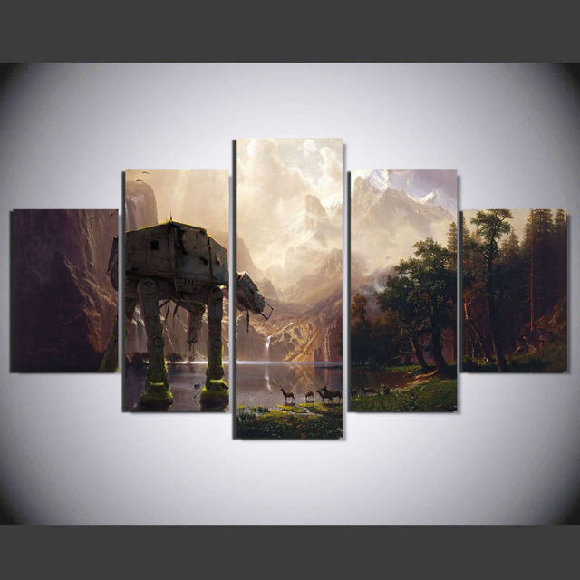 Star Wars AT-AT Framed Canvas