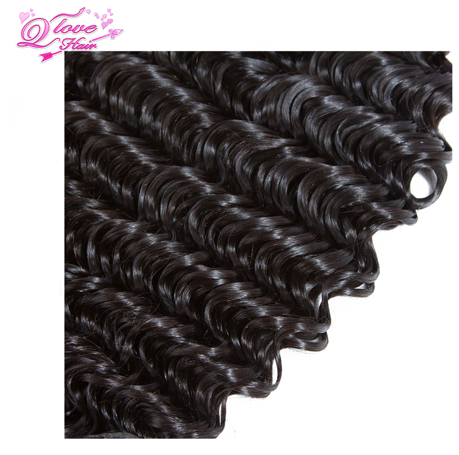 Queen Love Hair Natural Color Bundles Malaysian 8-26 Inch Deep Wave 1 Bundle 100% Non Remy Human Hair Weave Free Shipping