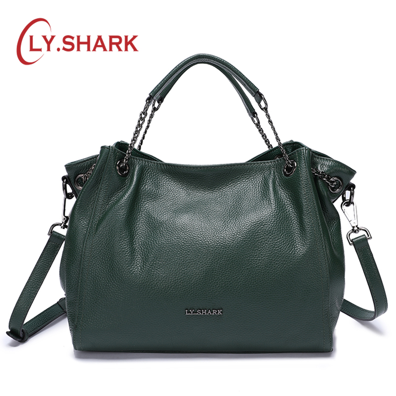 LY SHARK Bags For Women 2018 Ladies Genuine Leather Handbag Luxury Handbag Women Shoulder Bags Female