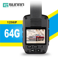 GSUNAN 64G Body Cam Wearable Dvr Body Video Recorder Police with 4000mAh Rechargeable Lithium Battery Full HD 1296P Resolution