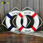 Umiwe 3 Size Navy Style Lifebuoy Nautical Welcome Aboard Sign In Home Decor Decorative Life Ring Room Bar Home Decoration