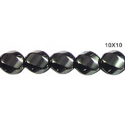 NºМагнитная Гематит твист круглые бусины 10x10 <b>мм</b> - a973