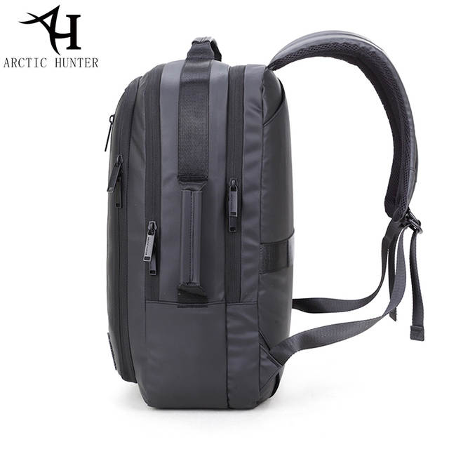 2be8b9a54335 ARCTIC HUNTER 15.6 inch laptop backpacks   tote bag men travel waterproof  backpack male Black Backpacks