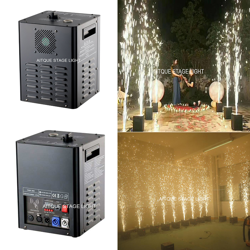 4lot New invention dmx flame tage dmx control cold spark wedding machine Flame Fireworks machine china cold firework machine indoor wedding fountain dmx display spark system fireworks machine