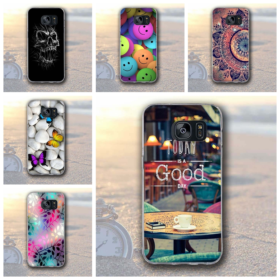 e2adee1e1bb Case For Samsung Galaxy S7 Edge G935 Soft silicone 3D Print Back Cover for  Samsung Galaxy S7 edge G935F TPU Phone Shells Fundas-in Fitted Cases from  ...