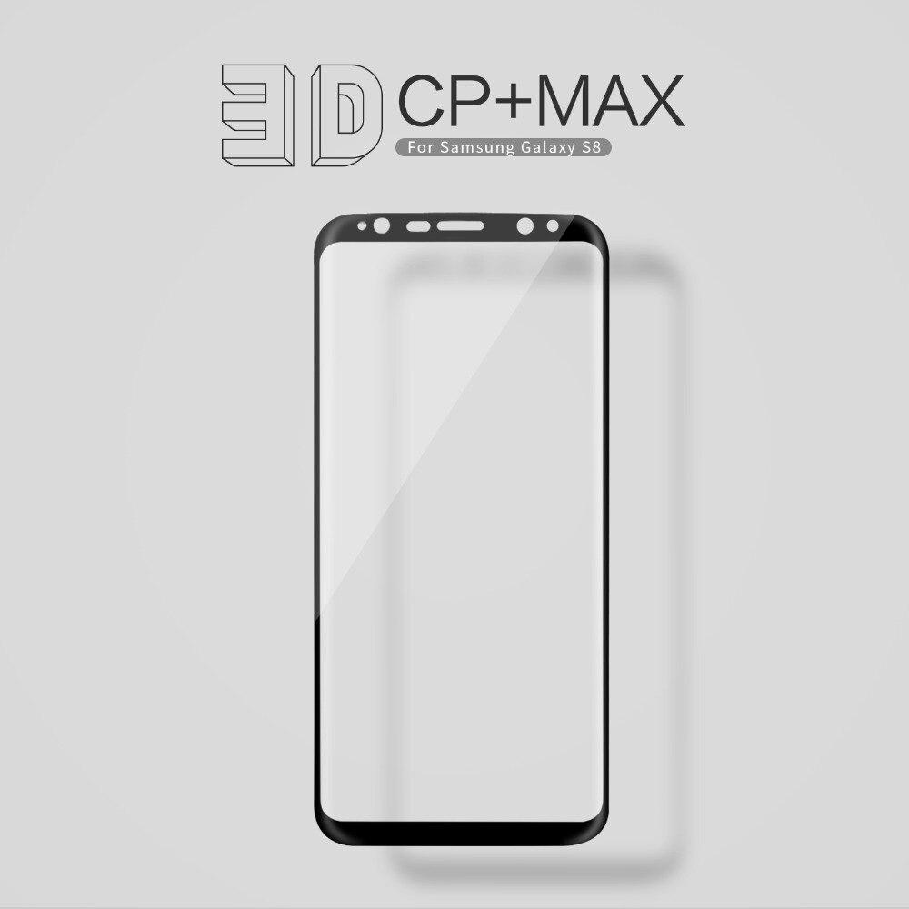 bilder für Für Samsung Galaxy S8/S8 Plus Nilkin Erstaunlich CP + MAX Volle Abdeckung gehärtetem Glas 9 H 3D Gebogene Displayschutzfolie für Samsung S8 Plus