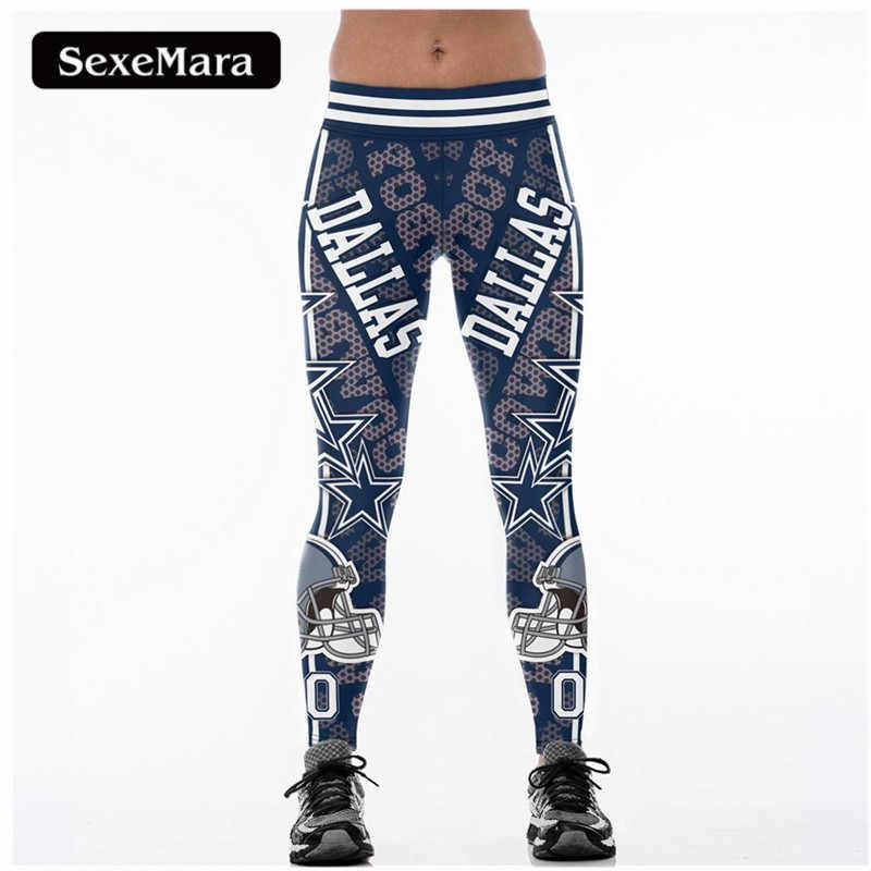 80967524daec58 SexeMara DALLAS 00 3D Print Women Leggings High Waist Legging Steelers Printed  Women Pants Slim Fitness