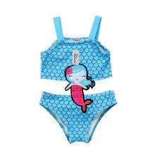 New Kids Baby Girls Clothes Cartoon Mermaid Swimsuit Bathing Suit Sleeveless Swimwear Swimsuit Bathing Suit Bikini Kids Clothing