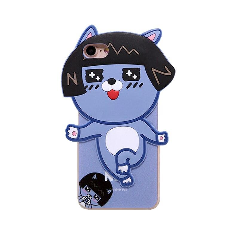 2016 Korea fashion cartoon forest animals monsters lion girl rabbit dinosaur pink peach <font><b>love</b></font> teedy bear <font><b>joy</b></font> <font><b>doll</b></font> case For Iphone