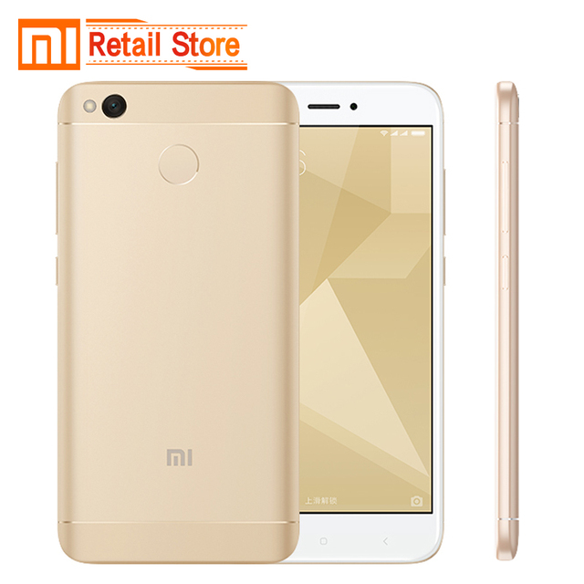 "Original Xiaomi Redmi 4X Mobile Phone Snapdragon 435 Octa Core CPU 2GB RAM 16GB ROM 5.0"" FHD 13MP Camera 4100mAh Smartphone"