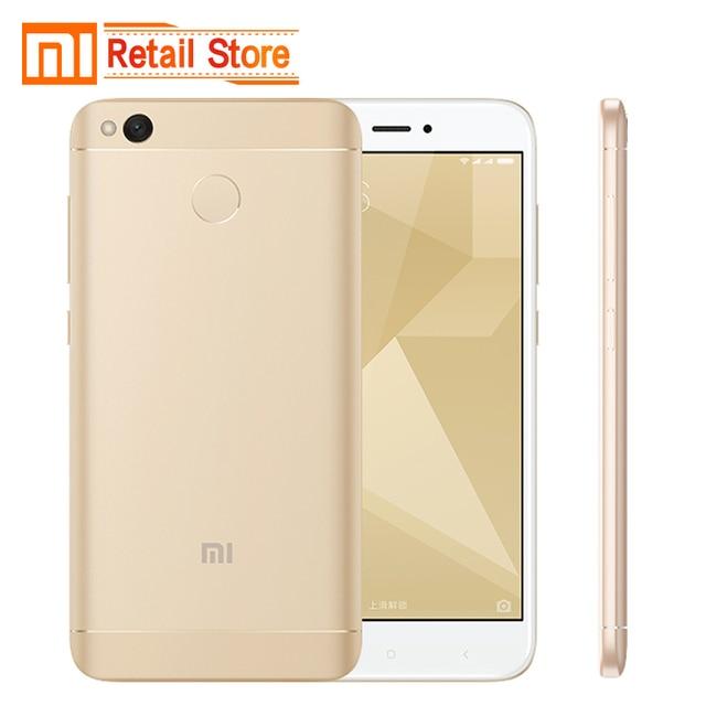 """Original Xiaomi Redmi 4X Mobile Phone Snapdragon 435 Octa Core CPU 2GB RAM 16GB ROM 5.0"""" FHD 13MP Camera 4100mAh Smartphone"""