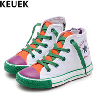 NEW Spring Autumn Children Shoes Toddler Casual Sneakers Student Canvas Shoes Boys Girls High Top Kids