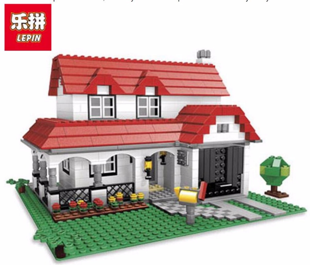 LEPIN 24027 Building Series American Style House Villa Building Blocks 761pcs Bricks Toys Gift For Children LEPIN Block a toy a dream lepin 24027 city series 3 in 1 building series american style house villa building blocks 4956 brick toys