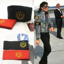Редкий Косплей MJ Майкл Джексон CTE анти война вышивка повязки Brassard подарок на вечеринку в честь Хэллоуина для мира в 1980s