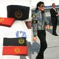 Rare Cosplay MJ Michael Jackson CTE Anti Guerra Brazalete Brassard Bordado Fiesta de Halloween Regalo De La Paz en 1980 s