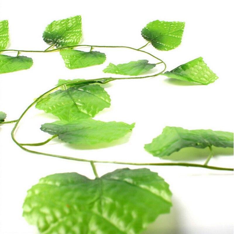 12pcs artificial plants green grape vine 2.2m green leaves fake