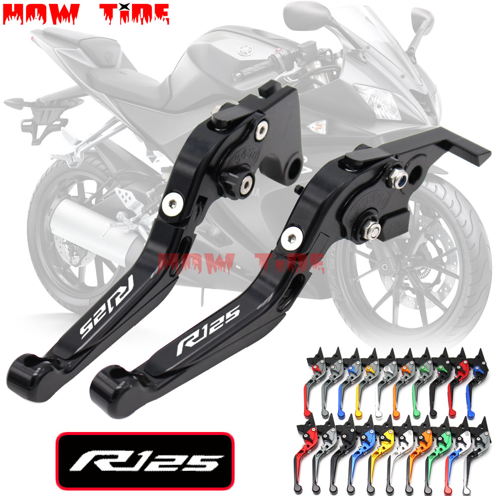 CNC Motorcycle Foldable Extending Brake Clutch Lever And Moto 170mm Lever For YAMAHA YZFR125 YZF R125 2008-2011 2009 2010