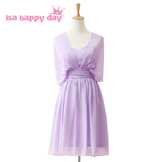 Cute Lavender Knee Length Lilacs Chiffon Homecoming Plus Size Tea Party Corset Dresses Short 16 Birthday Dress Under 50 H3845