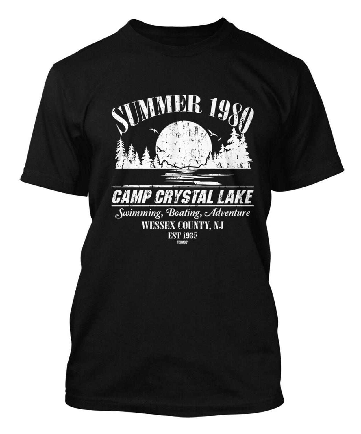 Summer 1980 Camp Crystal Lake Jason Voorhees Horror Movie Men'S T-Shirt 2019 New Fashion Brand T Shirt Fashion Graphic Tees image