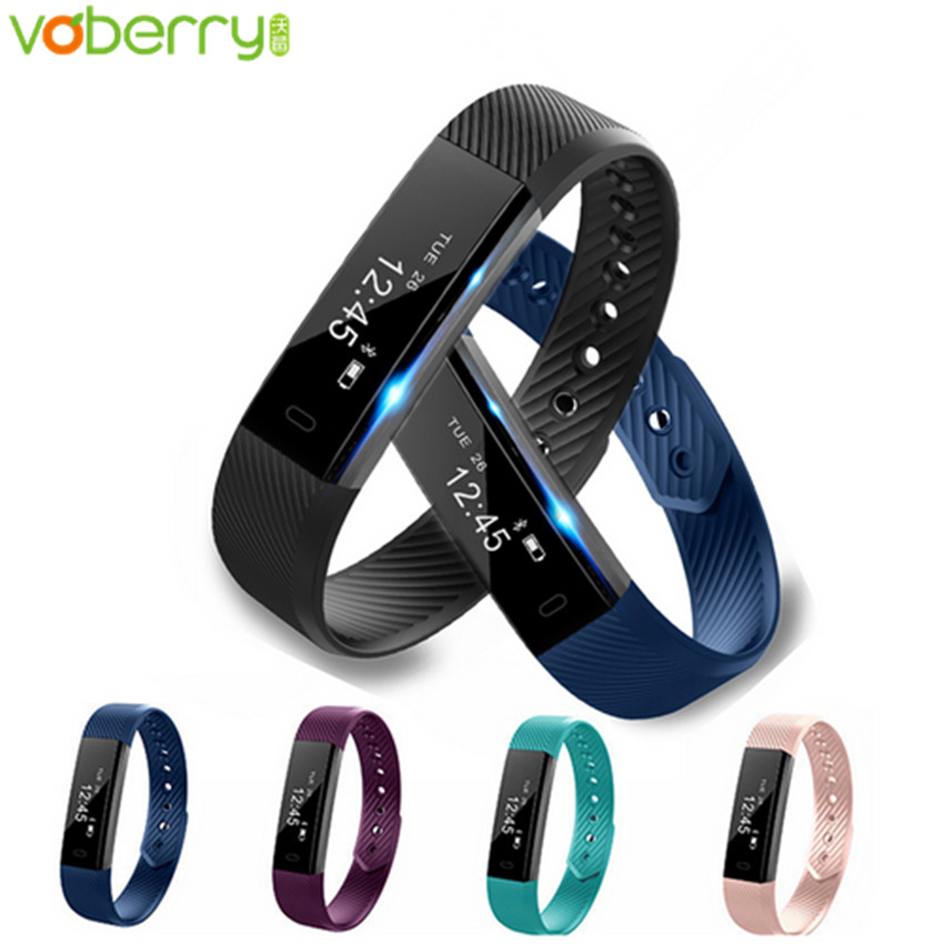 Voberry ID115 Smart Bracelet Sport Pedometer Fitness Tracker Sleep Monitor Wristband Bluetooth 4 0 Smartband For