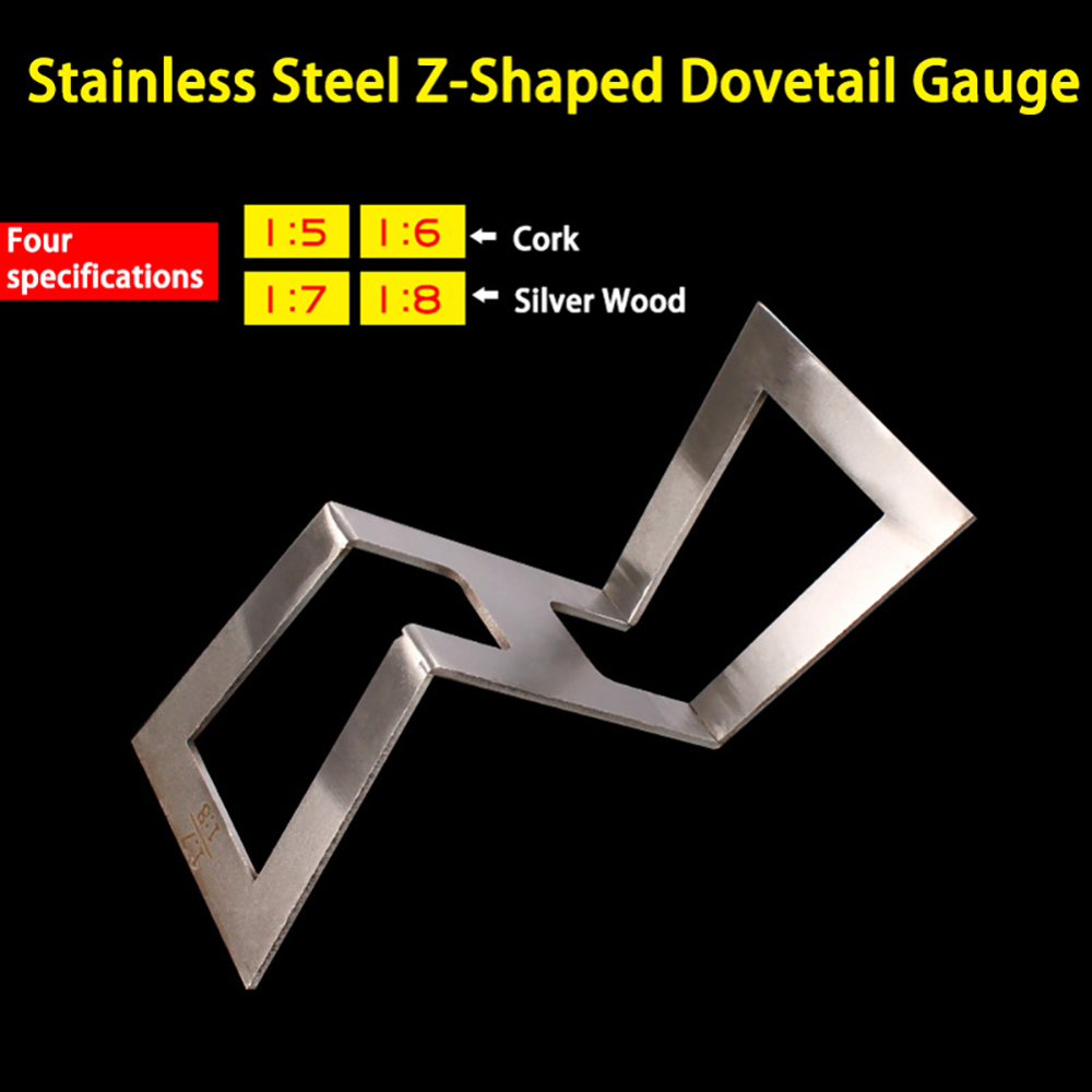 Stainless Steel Dovetail Gauge Copper Dovetail Marker Hand Cut Wood Joints Gauge Dovetail Guide Marking Size 1:5-1:6 1:7-1:8