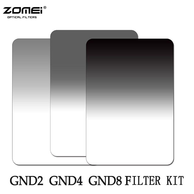 Respectivamente suave cuadrado 100*150mm se graduó ND2 ND4 ND8 (0,3-0,9) filtro de densidad neutra Kit para Cokin Z serie 150*100mm