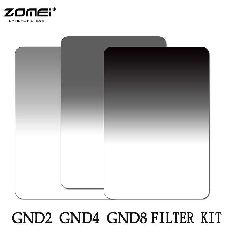 Zomei Weichen Quadratischen 100*150mm Absolvierte ND2 ND4 ND8 (0,3-0,9) neutral Density Filter Kit Für Cokin Z Serie 150*100mm
