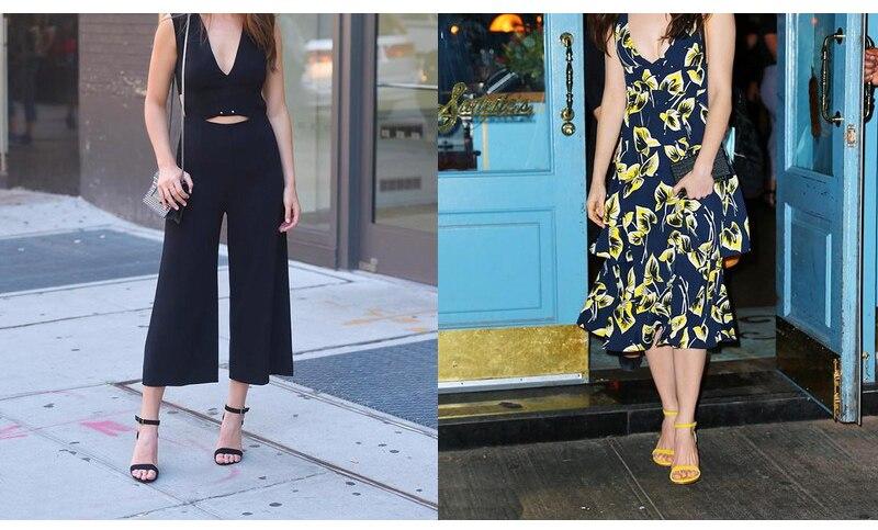 HTB1oNeodMjN8KJjSZFkq6yboXXaq GENSHUO 2019 Ankle Strap Heels Women Sandals Summer Shoes Women Open Toe Chunky High Heels Party Dress Sandals Big Size 42