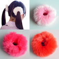 2 Unids Lindo de Moda Caliente Suave Mujeres Falsa Piel De Conejo Bandas Elásticas Del Pelo Hairband Niñas Accesorios Para el Cabello Banda de Pelo de Goma