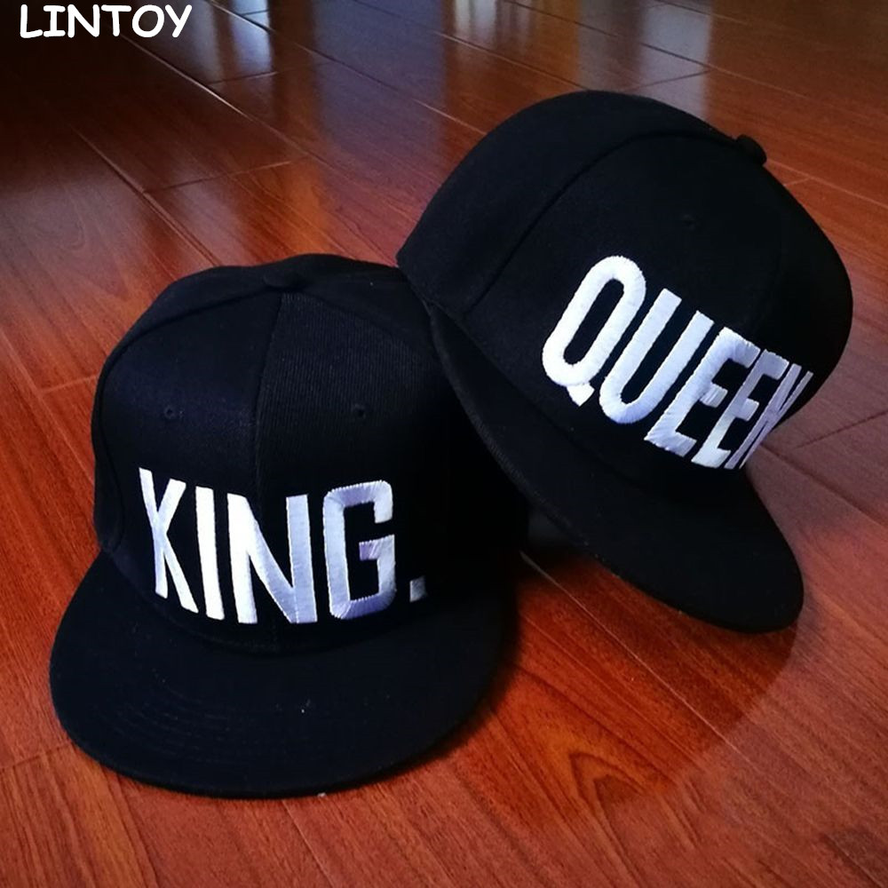 Hot Sale QUEEN KING Baseball Cap Hats Hip Hop QUEEN Letter Caps Lovers Snapback Sun Hat Casual Unisex Caps new 2017 fashion unisex cap bones baseball cap snapbacks hat simple hip hop cap casual sports female hats wholesale