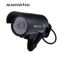 Fake Camera Outdoor Waterproof Dummy CCTV Camera With Flashing Red LED Realistic Look Bullet Fake Security Camera Indoor